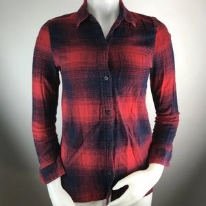 Madewell Ex Boyfriend Button Down Plaid